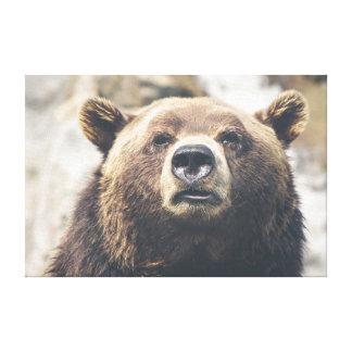 Grizzlybruntbjörn Canvastryck