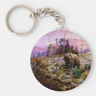 Grizzlyen Rund Nyckelring