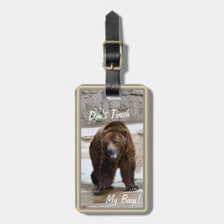 Grizzlyen som björnen inte gör det mitt handlag, bagagebricka