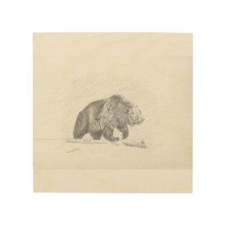 Grizzlyen Trätavla