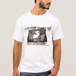 Grizzlyen uthärdar T-tröja T-shirt