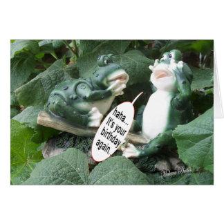 Groda haha för grodasamtal 5840 ditt bday hälsningskort