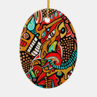 Groda-, hund- och fågel juläventyr julgransprydnad keramik