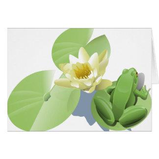 Groda- och liljadynor hälsningskort