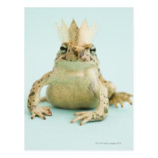 Groda som ha på sig kronan vykort