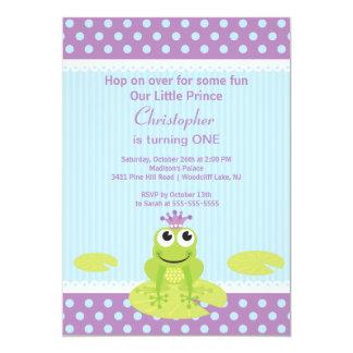 GrodaPrince födelsedagsfest inbjudan 12,7 X 17,8 Cm Inbjudningskort