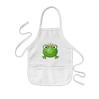 GrodaPrince. Lycklig Frog. Barnförkläde