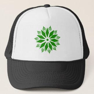 Grön abstrakt irländsk stjärna keps