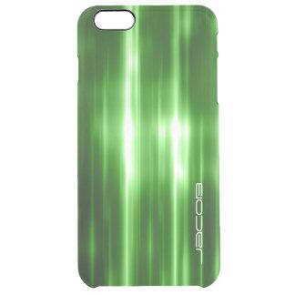 grön abstrakt skina ljuspersonlig vid namn clear iPhone 6 plus skal