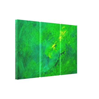 Grön akryl för spänningabstraktExpressionist Canvastryck