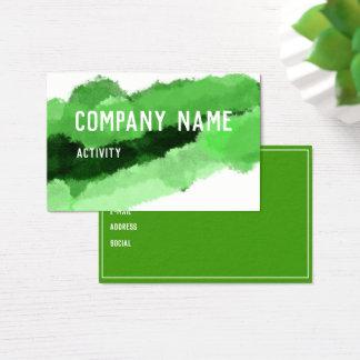 Grön akvarell Businesscard Visitkort