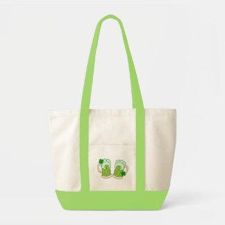 Grön alfabetisk för ölmuggrostat bröd tygkasse