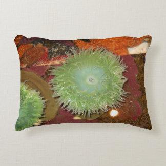 Grön anemon för jätte prydnadskudde