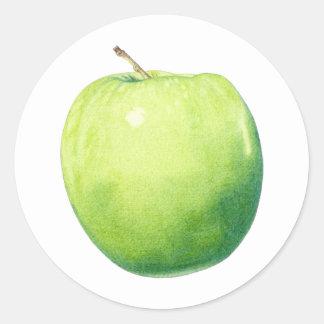 Grön Apple klistermärke