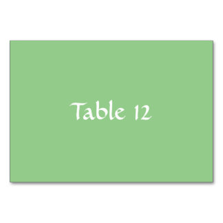 Grön Apple mall Tablecard Bordsnummer