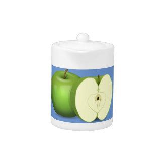 Grön äppleteakruka