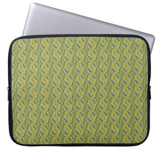 grön artdeco för blått i retrostyle laptop fodral
