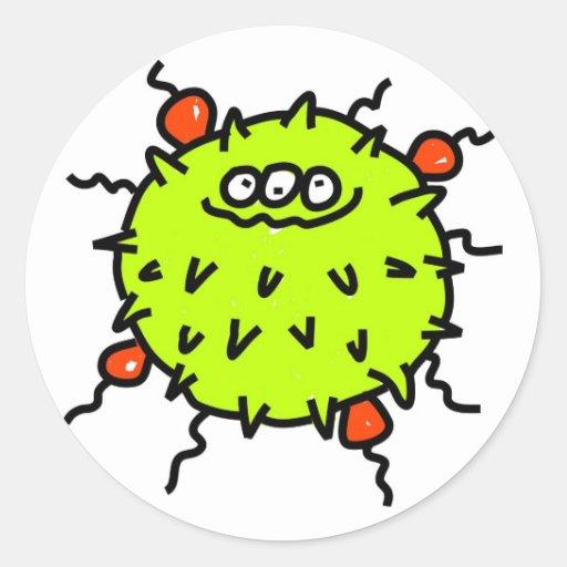 Grön bakterie klistermärke