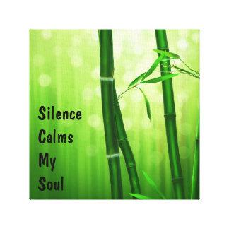 Grön bambu - tystnad lugnar min Soul Canvastryck