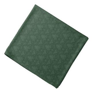 Grön Bandana för mönster Fleur-de-lis