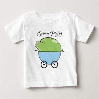 Grön begynna T-tröja för Piglet (blått) Tee Shirts