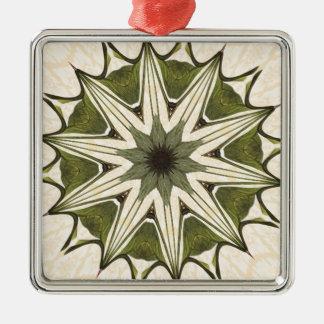Grön beige blom- Kaleidoscope Julgransprydnad Metall