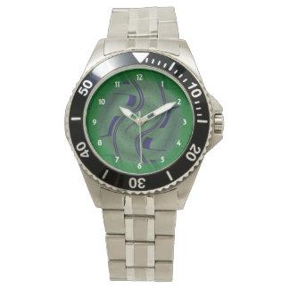 Grön blåttmodabstrakt armbandsur