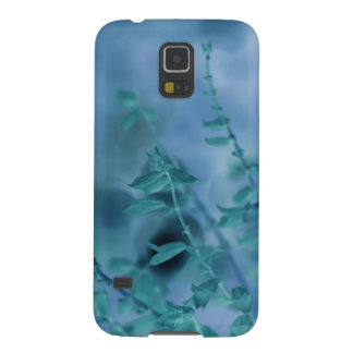 Grön blom- fotografi för blått galaxy s5 fodral