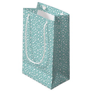 Grön blom- prydnad för blått - gåvan hänger lös