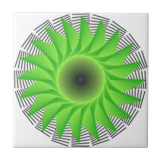 grön blomma kakelplatta