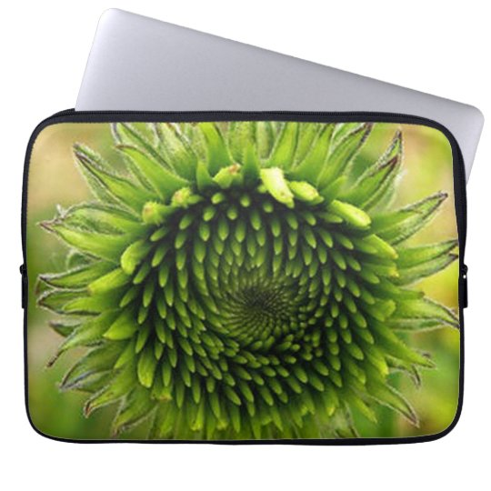 Grön blomma laptop sleeve