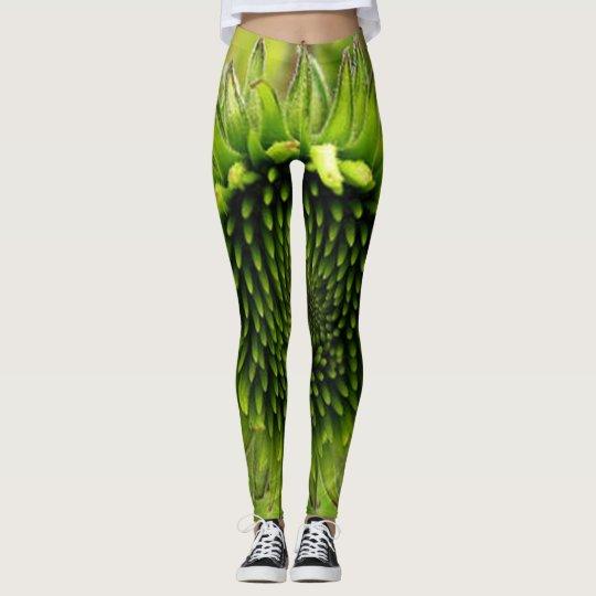 Grön blomma leggings