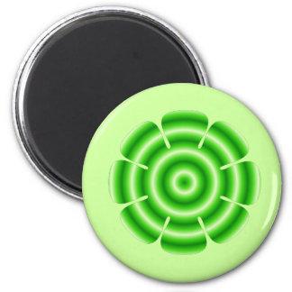 grön blomma magnet rund 5.7 cm
