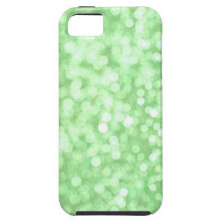 Grön Bokeh gnistraiphone case iPhone 5 Skydd