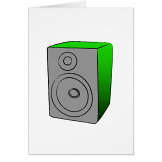 Grön BOOMBOX Hälsningskort