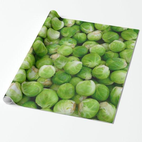 Grön Bryssel Kål Presentpapper