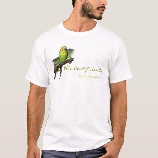 Grön Budgie konstutslagsplats Tee Shirt