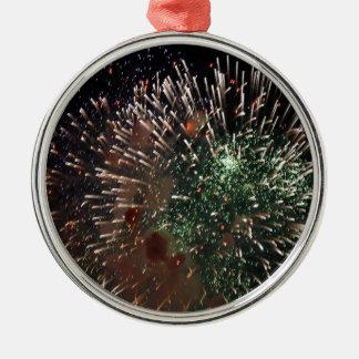 Grön Closeup för abstrakt fyrverkerier Julgransprydnad Metall