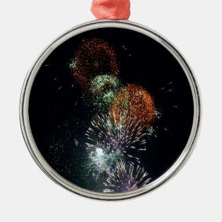 Grön coctail för abstrakt fyrverkerier julgransprydnad metall