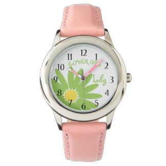 Grön daisybrudtärna armbandsur