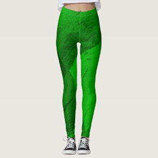 Grön damasker för smaragd leggings