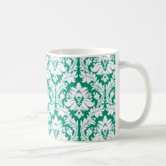 Grön damast för smaragd kaffemugg