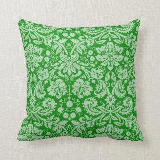 Grön damast kudde