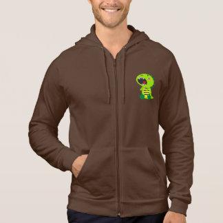 Grön Dinosaur RAWR Sweatshirt Med Luva