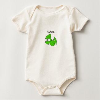Grön DinosaurPterodactyl eller drakeWhoa tecknad Body För Baby