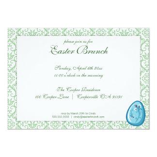 Grön elegant påskfrunchinbjudan 12,7 x 17,8 cm inbjudningskort
