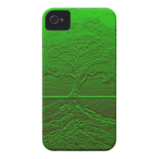 Grön energi för livets träd Case-Mate iPhone 4 case