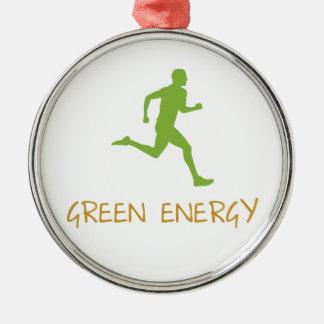 Grön energi julgransprydnad metall