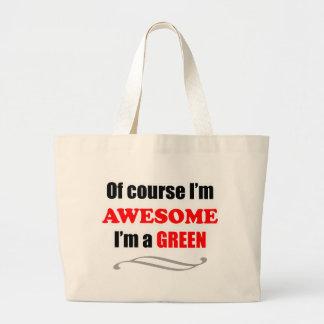 Grön enorm familj tote bags