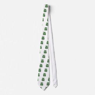 grön feck med shamrocken slips